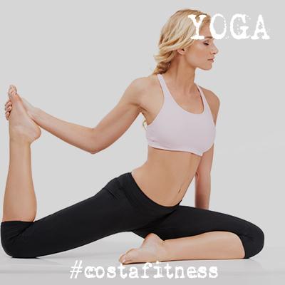 Yoga en el gimnasio costafitness de chiclana