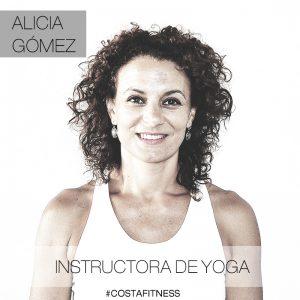 Alicia Gómez instructora de Yoga