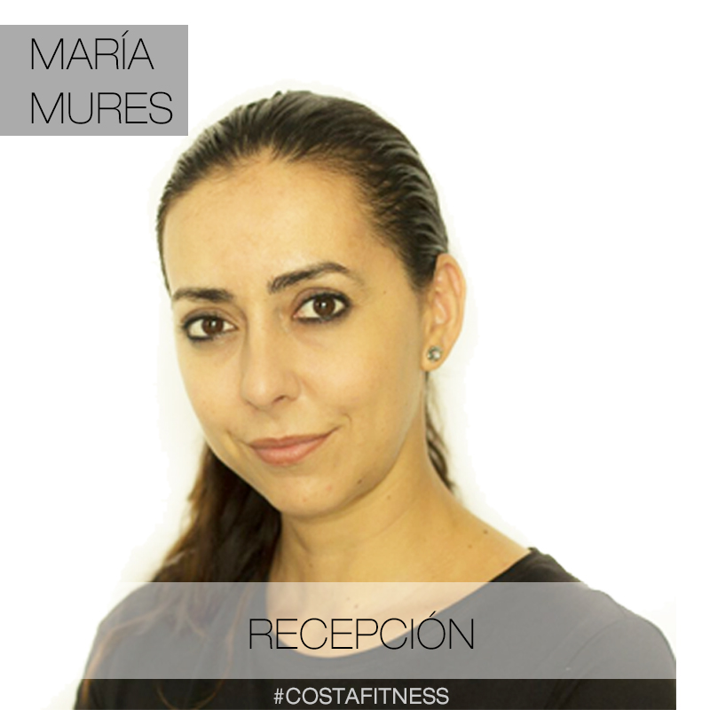 María Mures recepcionista de costafitness