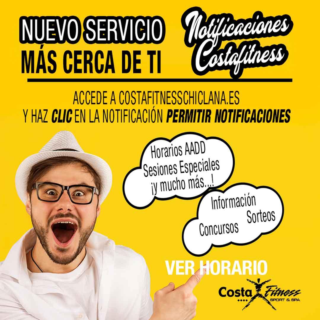 Nuevo servicio en el Gimnasio de Chiclana Costafitness