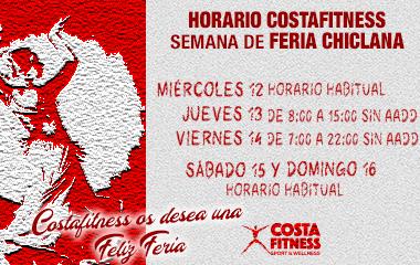 HORARIO DE COSTAFITNESS – FERIA CHICLANA