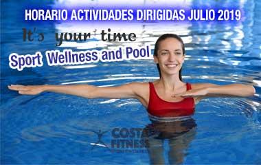 HORARIO ACTIVIDADES DIRIGIDAS JULIO2019