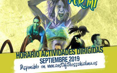 HORARIO ACTIVIDADES DIRIGIDAS SEPTIEMBRE 2019