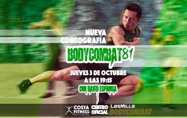 NUEVA COREOGRAFÍA BODYCOMBAT81 EN COSTAFITNESS