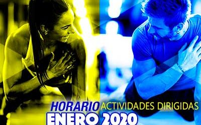 HORARIO ACTIVIDADES DIRIGIDAS ENERO 2020